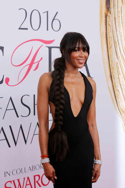 Model Naomi Campbell arrives for the 2016 CFDA Fashion Awards in Manhattan, New York, U.S., June 6, 2016. (Photo by Andrew Kelly/Reuters)