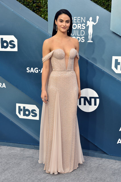 Camila Mendes attends the 26th Annual Screen ActorsGuild Awards at The Shrine Auditorium on January 19, 2020 in Los Angeles, California. (Photo by Gregg DeGuire/Getty Images for Turner)