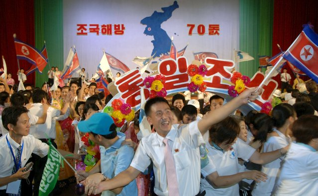 The conference for national reunification for celebrating the 70th anniversary of Korea's liberation was held in Pyongyang in this undated photo released by North Korea's Korean Central News Agency (KCNA) in Pyongyang August 15, 2015. (Photo by Reuters/KCNA)