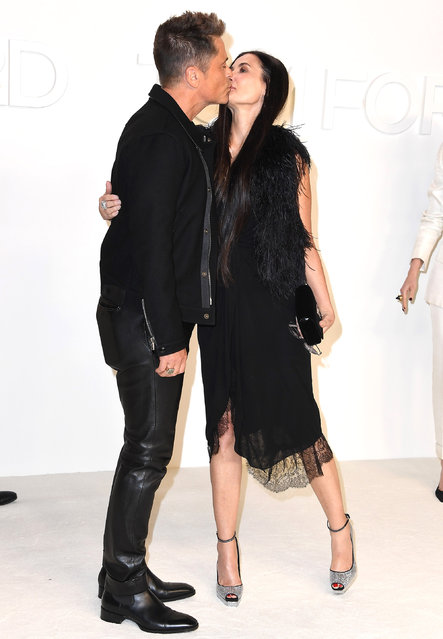 (L-R) Rob Lowe and Demi Moore attend the Tom Ford AW20 Show at Milk Studios on February 07, 2020 in Hollywood, California. (Photo by Steve Granitz/WireImage)
