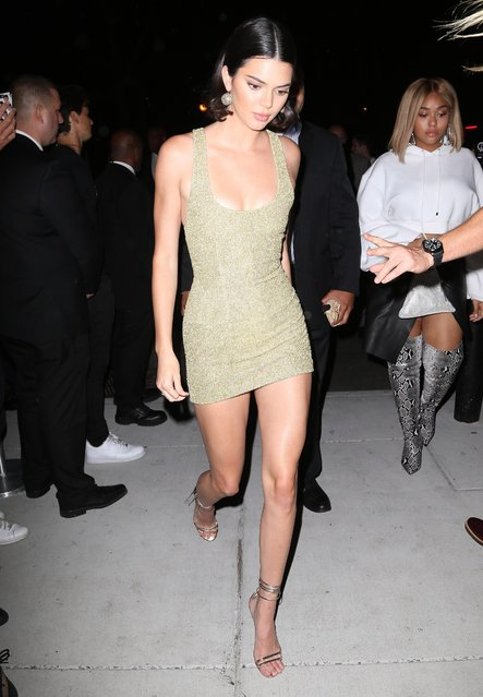 Kendall Jenner arrives at the Mert Alas x Marcus Piggot book launch party at Public Hotelon September 7, 2017 in New York City. (Photo by Splash News and Pictures)
