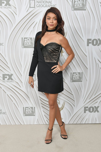 Sarah Hyland attends FOX Broadcasting Company, Twentieth Century Fox Television, FX And National Geographic 69th Primetime Emmy Awards after party at Vibiana at Vibiana on September 17, 2017 in Los Angeles, California. (Photo by Neilson Barnard/Getty Images)