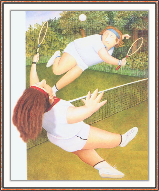 Tennis. Artwork by Beryl Cook