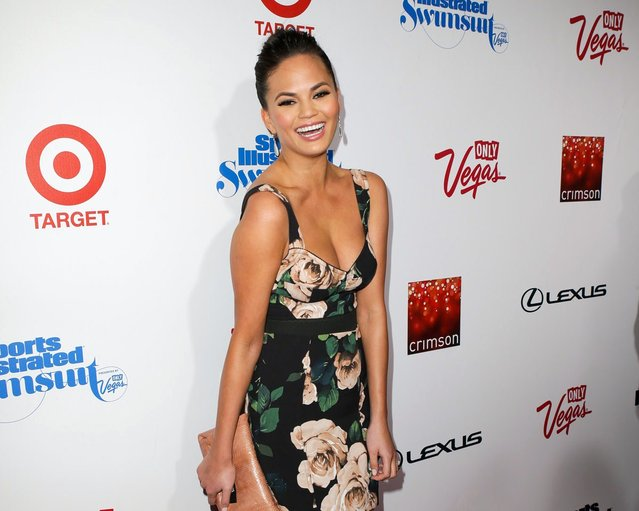 Model Chrissy Teigen attends Sports Illustrated Swimsuit Launch Party at Crimson on February 12, 2013 in New York City. (Photo by Gilbert Carrasquillo/FilmMagic)