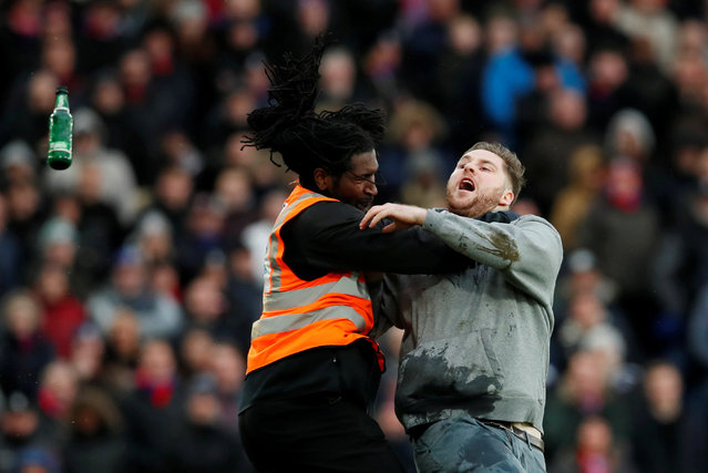 Pitch Invader during the English Premier League 26 th round match between Crystal Palace and Newcastle United at the Selhurst Park in London, Great Britain on February 4, 2018. (Photo by David Klein/Reuters)