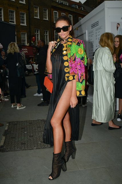 Charlotte Dawson is seen attending the David Ferreira catwalk show during London Fashion Week 2016 in London, United Kingdom on September 20, 2016. (Photo by FameFlynet UK)