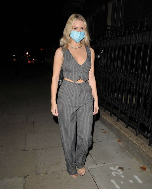 Kate Moss' half-sister Lottie Moss x Victoria app collaboration dinner in London, England on October 7, 2020. (Photo by Can Nguyen/SIPA Press/Rex Features/Shutterstock)