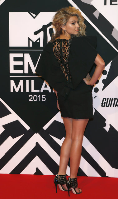 Tori Kelly arrives for the 2015 MTV European Music Awards in Milan, Italy, Sunday, October 25, 2015. (Photo by Antonio Calanni/AP Photo)