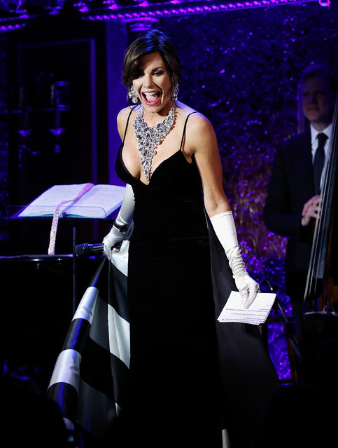 Luann De Lesseps performs during the Luann De Lesseps cabaret debut at Feinstein's/54 Below on February 27, 2018 in New York City. (Photo by John Lamparski/Getty Images)