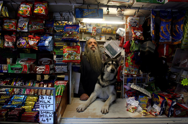 William Mulhall poses for a photograph in his old curiosity shop in the small seaside village of Ardglass in Co.Down, United Kingdom on January 15, 2012. (Photo by Cathal McNaughton/Reuters)