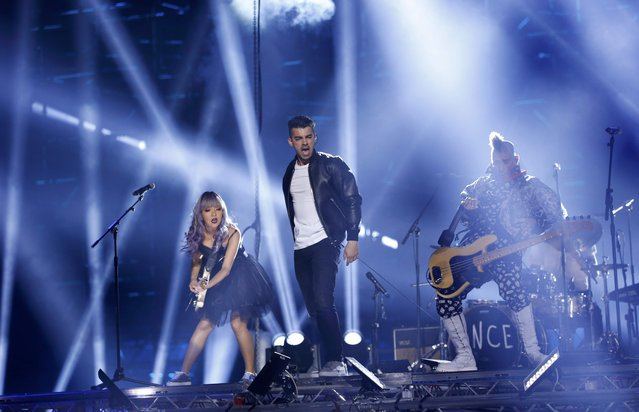 Rock band DNCE perform on stage at the 2016 MTV Europe Music Awards at the Ahoy Arena in Rotterdam, Netherlands, November 6, 2016. (Photo by Yves Herman/Reuters)