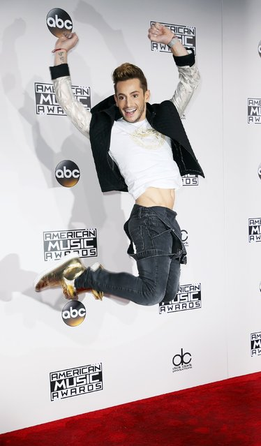 Frankie Grande arrives at the 2016 American Music Awards in Los Angeles, California, U.S., November 20, 2016. (Photo by Danny Moloshok/Reuters)