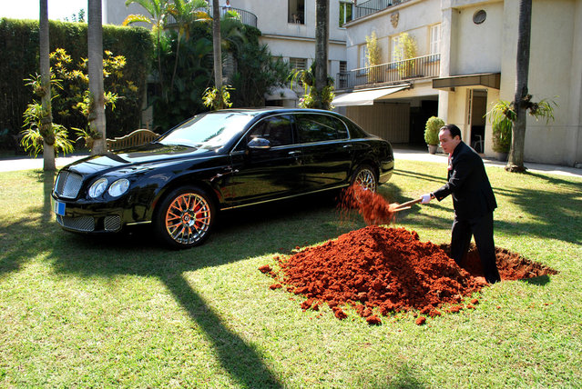 Brazilian Billionaire Buries His Bentley