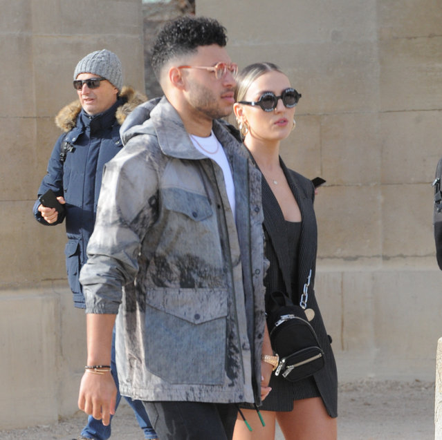 Perrie Edwards and Alex Oxlede-Chamberlin seen out and about in Paris on January 16, 2019. (Photo by Palace Lee/Splash News and Pictures)