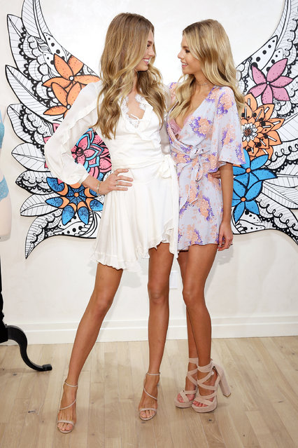 Victoria's Secret Angels Stella Maxwell And Romee Strijd Launch The New Dream Angels Collection at Victoria's Secret, Fifth Ave on February 28, 2017 in New York City.  (Photo by Monica Schipper/WireImage)