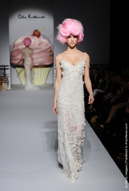 A model walks the runway at the Celia Kritharioti Spring/Summer 2012 fashion show at One Mayfair