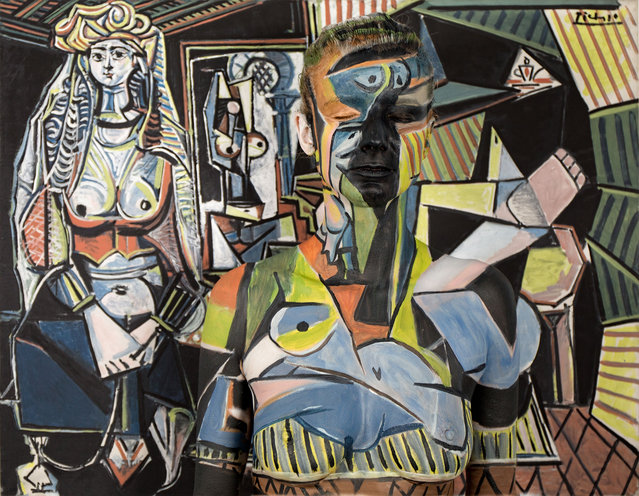 Titled 79,400,000 after price paid for Les Femmes dAlger (Version O) Pablo Picasso. (Photo by Trina Merry/Caters News)