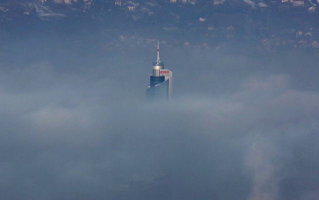A general view of the surroundings of the city of Sarajevo, Bosnia and Herzegovina, 15 January 2020. The city is covered with a thick layer of fog. It is recommended to residents of Sarajevo to reduce traffic on the roads. With 348 AQI (Air Quality Index), Sarajevo is one of the most polluted cities in the world. (Photo by Fehim Demir/EPA/EFE/Rex Features/Shutterstock)