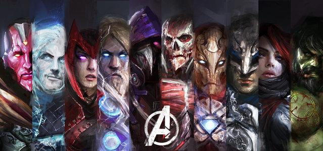 The Avengers Re-Imagined By Daniel Kamarudin