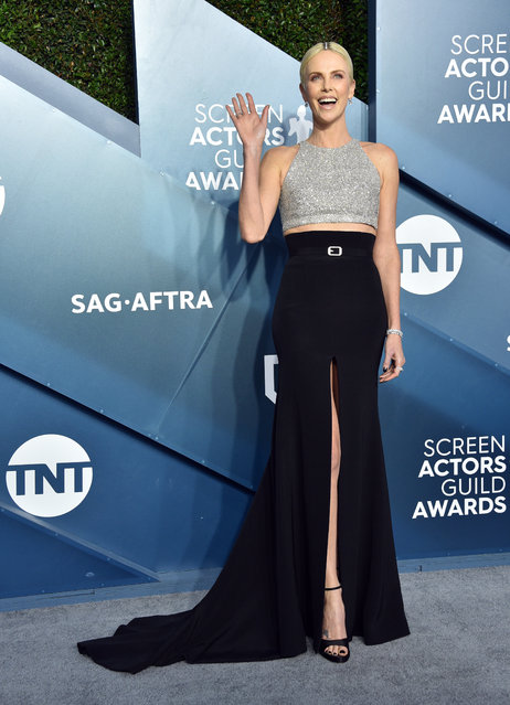 Charlize Theron attends the 26th Annual Screen ActorsGuild Awards at The Shrine Auditorium on January 19, 2020 in Los Angeles, California. (Photo by Gregg DeGuire/Getty Images for Turner)