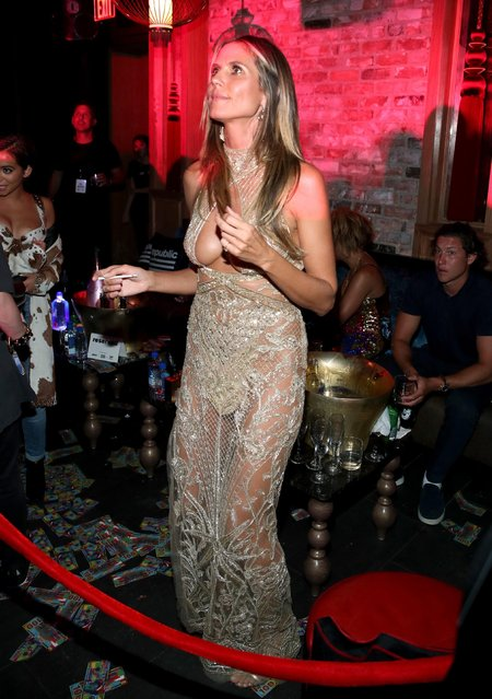 Heidi Klum at Republic Records VMA Party presented in partnership with FIJI Water at TAO at the Dream Hotel on August 27, 2017 in Los Angeles, California. (Photo by Jonathan Leibson/Getty Images for FIJI Water)