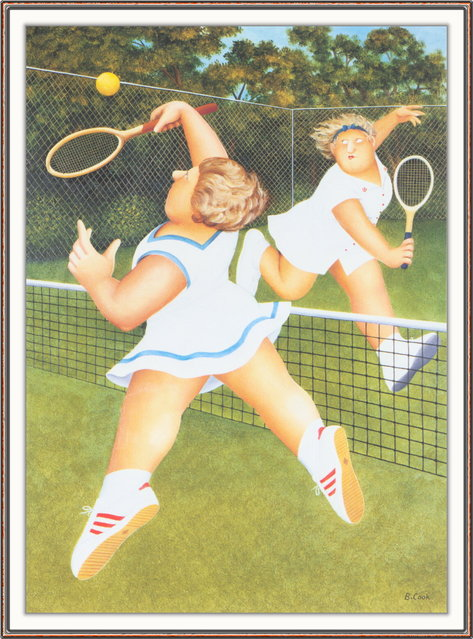 Ladies' Match. Artwork by Beryl Cook