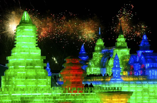 Fireworks light the skies during opening ceremonies on January 12, 2012. (Photo by Sheng Li/Reuters)