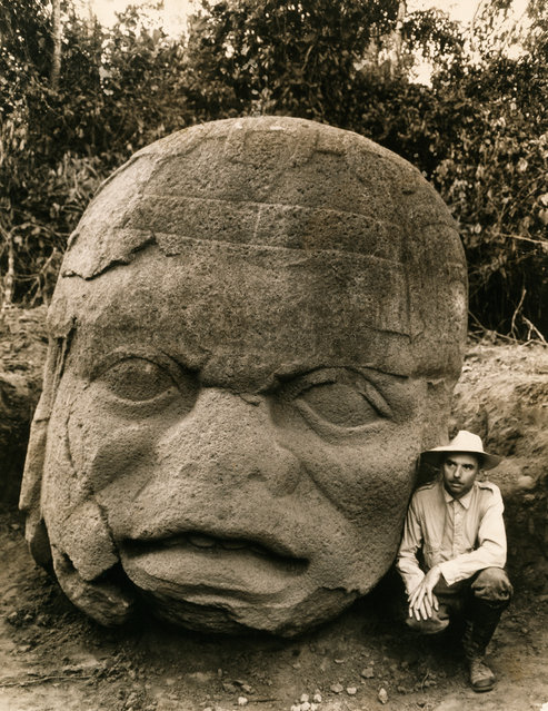 Beginning in 1938, Matthew Stirling, chief of the Smithsonian Bureau of American Ethnology, led eight National Geographic-sponsored expeditions to Tabasco and Veracruz in Mexico. He uncovered 11 colossal stone heads, evidence of the ancient Olmec civilization that had lain buried for 15 centuries. (Photo by Richard Hewitt Stewart)