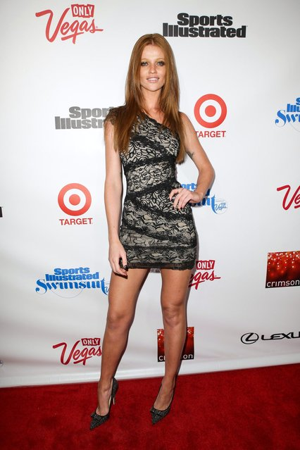 Model Cintia Dicker attends as Sports Illustrated celebrates SI Swimsuit 2013 with a star-studded red carpet kickoff event at Crimson on February 12, 2013 in New York City. (Photo by Michael Loccisano/Sports Illustrated)