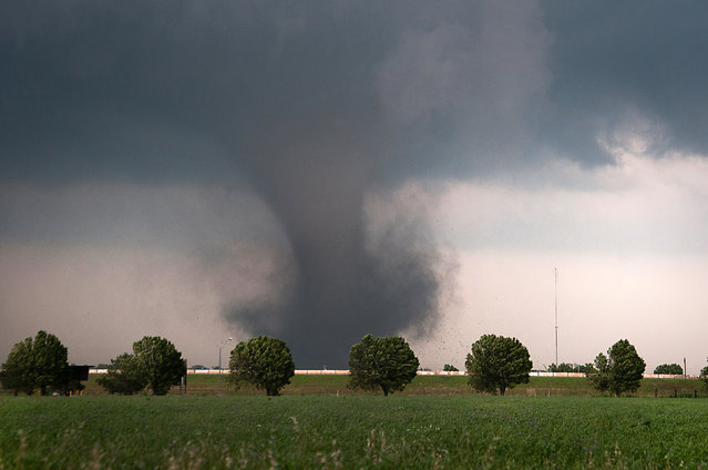 A tornado gathers energy in Blanchard, Oklahoma – May 2011. (Photo by Mike Mezeul II/Caters News)