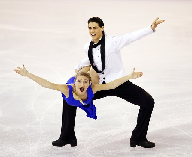 Piper Gilles and Paul Poirier of Canada perform during the Ice Dance event at the ISU Grand Prix of Figure Skating final in Barcelona December 13, 2014. (Photo by Albert Gea/Reuters)