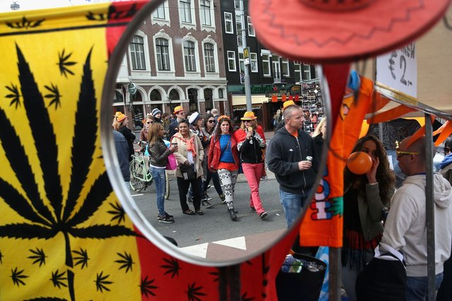 A general view of celebrations for the inauguration of King Willem Alexander of the Netherlands as Queen Beatrix of the Netherlands abdicates on April 30, 2013 in Amsterdam, Netherlands, on April 30, 2013.  (Photo by Chris Jackson/Getty Images)