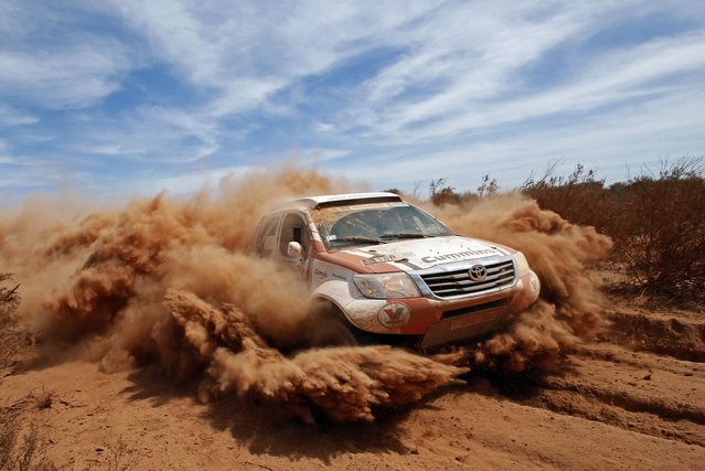 Toyota driver Rainer Wissmans of Germany drives during the 2nd stage of the Dakar Rally 2015, from Villa Carlos Paz to San Juan January 5, 2015. (Photo by Jean-Paul Pelissier/Reuters)