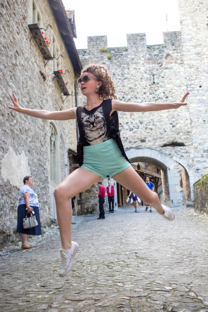 """Castle leap"". (Photo by Yolanda Gonzalez)"