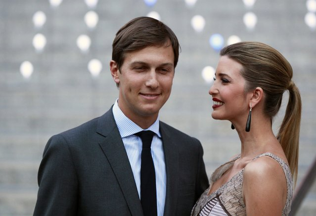 Ivanka Trump arrives with husband, Jared Kushner, at the Vanity Fair party to begin the 2012 Tribeca Film Festival in New York, April 17, 2012. (Photo by Lucas Jackson/Reuters)
