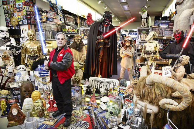Steve Sansweet who has made it into the Guinness Book of World Records for having the largest collection of Star Wars memorabilia, having amassed over 300,000 unique items. (Photo by PA Wire)