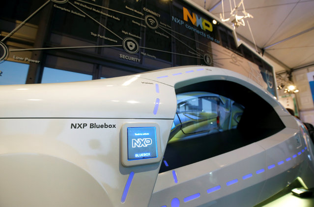 A display on automotive technology is shown in the NXP Semiconductors booth during the 2017 CES in Las Vegas, Nevada January 6, 2017. (Photo by Steve Marcus/Reuters)
