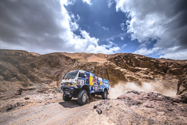 Dmitry Sotnikov of KAMAZ during stage 5 on January 11, 2019. (Photo by Flavien Duhamel/Red Bull Content Pool)