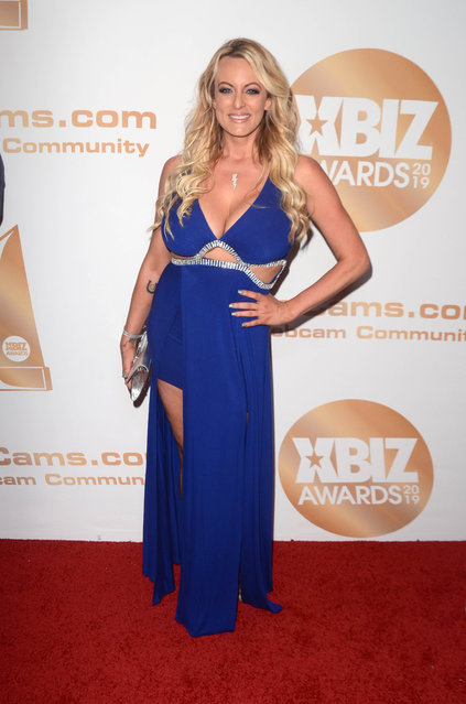 Stormy Daniels attends the 2019 XBIZ Awards at the Westin Bonaventure Hotel in Los Angeles, California on January 17, 2019. (Photo by Splash News and Pictures)