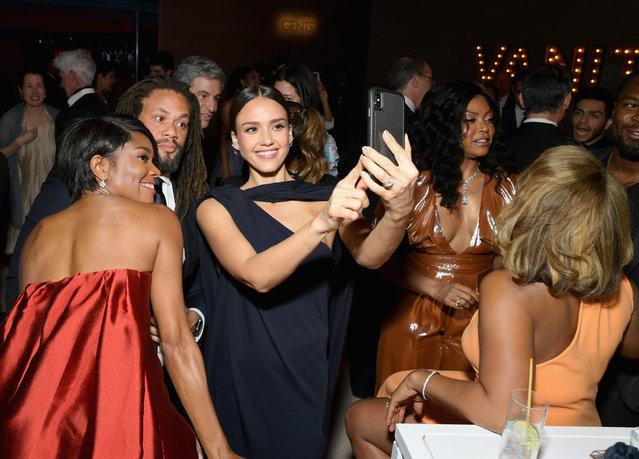 Gabrielle Union, Jessica Alba, and Taraji P. Henson attend the 2019 Vanity Fair Oscar Party hosted by Radhika Jones at Wallis Annenberg Center for the Performing Arts on February 24, 2019 in Beverly Hills, California. (Photo by Emma McIntyre /VF19/WireImage)