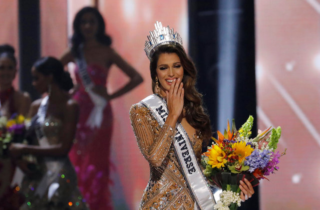Miss France Iris Mittenaere reacts after winning the 65th Miss Universe beauty pageant at the Mall of Asia Arena, in Pasay, Metro Manila, Philippines January 30, 2017. (Photo by Erik De Castro/Reuters)
