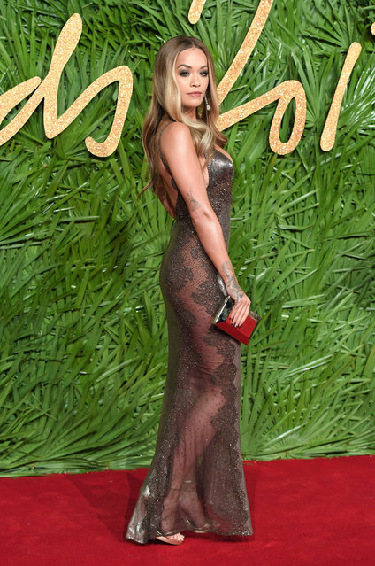 Rita Ora attends The Fashion Awards 2017 in partnership with Swarovski at Royal Albert Hall on December 4, 2017 in London, England. (Photo by Karwai Tang/WireImage)