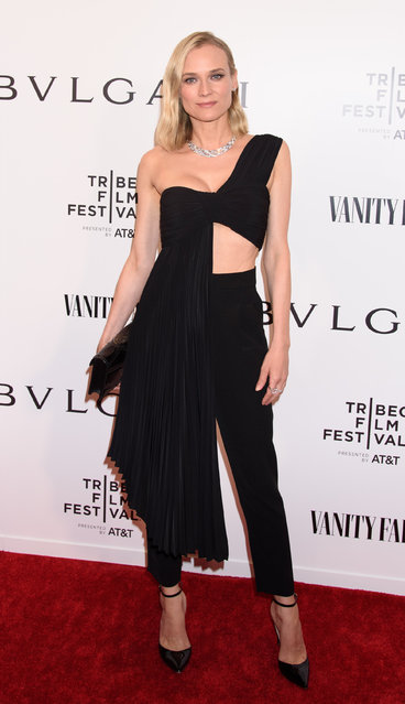"""Diane Kruger attends BVLGARI World Premiere Of """"Celestial"""" And """"The Fourth Wave"""" at Spring Studios on April 23, 2019 in New York City. (Photo by Janet Mayer/Splash News and Pictures)"""