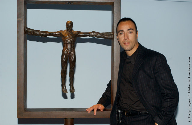 Lorenzo Quinn, son of Anthony Quinn, and his scultpures