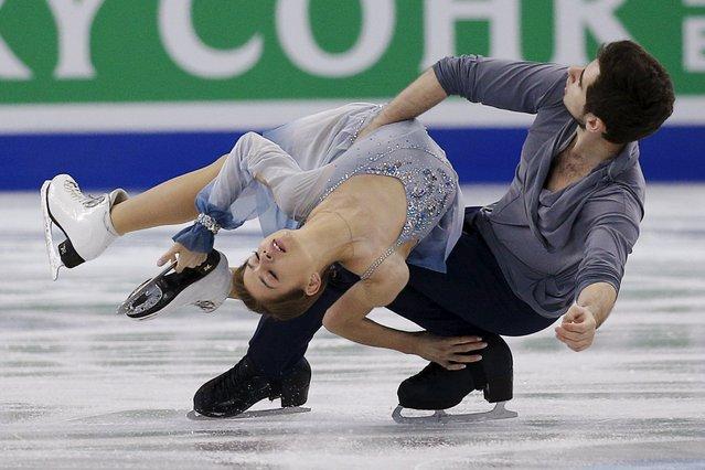 Figure Skating, ISU World Figure Skating Championships, Ice Dance Free Dance, Boston, Massachusetts, United States on March 31, 2016: Alexandra Nazarova and Maxim Nikitin of Ukraine compete. (Photo by Brian Snyder/Reuters)