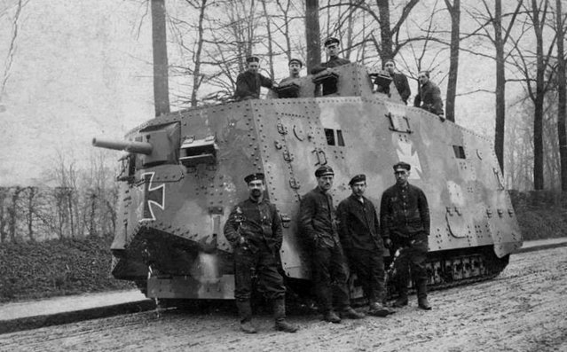 The German A7V Sturmpanzerwagen went into production in October 1917, but only twenty of these cumbersome land fortresses were built. (Photo by Anthony Tucker-Jones/Mediadrumworld.com)