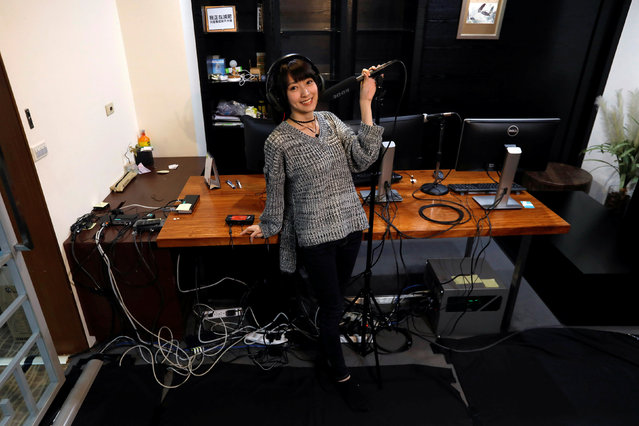 """Yuniko Chung, 24, a video game broadcaster, poses for a photograph in her office in Taipei, Taiwan, February 24, 2017. """"I always hear people say that they never watch female gaming broadcasters as they rely only on their appearance rather than skills. I am not that type of broadcaster. I can play along with men. I am not using my face and my gender as advantage"""", said Chung. (Photo by Tyrone Siu/Reuters)"""