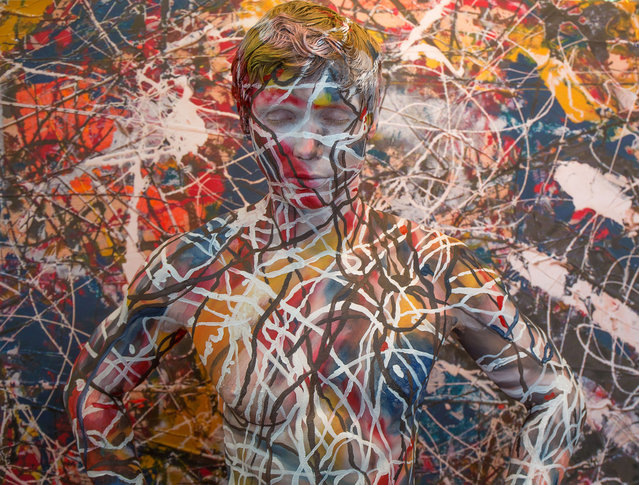 Titled 00,000,000 after price paid for Number 17A Jackson Pollock. (Photo by Trina Merry/Caters News)