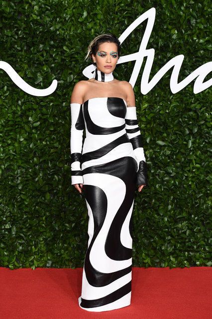 Rita Ora arrives at The Fashion Awards 2019 held at Royal Albert Hall on December 02, 2019 in London, England. (Photo by Jeff Spicer/BFC/Getty Images)