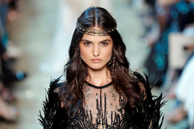 Model Blanca Padilla presents a creation by Lebanese designer Elie Saab as part of his Haute Couture Fall/Winter 2017/2018 collection show in Paris, France, July 5, 2017. (Photo by Charles Platiau/Reuters)